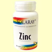 Zinc 50 mg - 60 cápsulas - Solaray
