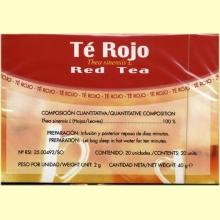 Té Rojo - 20 filtros - Soria Natural
