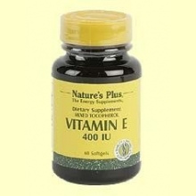 Vitamina E 400 UI - Natures Plus - 60 perlas