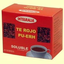 Te Rojo Pu-Erh Soluble - 20 sobres - Integralia