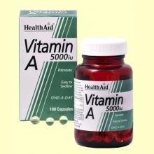 Vitamina A 5000 UI con Vitamina D 400 UI- 100 cápsulas - Health Aid