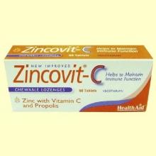 Zincovit-C - Con Vitamina C y Propóleo - 60 comprimidos - Health Aid