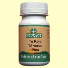 Te Rojo + Té Verde + Piña - 60 cápsulas - Sotya