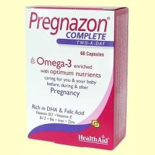 Pregnazon Complete - Multinutriente para el embarazo - 60 comprimidos - Health Aid