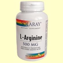 L-Arginina - L-Arginine 500 mg - 100 cápsulas - Solaray
