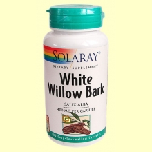 White Willow Back - Sauce Blanco - 100 cápsulas - Solaray
