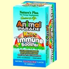 Animal Parade Kids Immune Booster - 90 comprimidos - Natures Plus