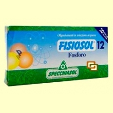 Fisiosol 12 Fósforo - 20 ampollas - Specchiasol