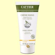 Crema de manos Bio con arcilla blanca - 75 ml - Cattier