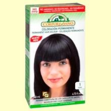 Tinte capilar coloracion permanente - Color negro - Corpore Sano - 140 ml
