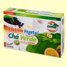 Gelatina Vegetal - Sabor Té Verde - 2 x 90 gramos - Condi