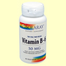 Vitamin B-6 50 mg - 60 cápsulas - Solaray