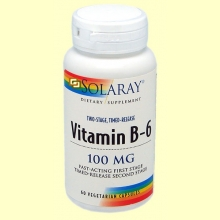 Vitamin B-6 100 mg - 60 cápsulas - Solaray