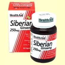 Eleuterococo - Ginseng Siberiano - 30 cápsulas - Health Aid