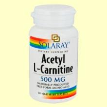 Acetyl L-Carnitine 500 mg - Solaray - 30 cápsulas vegetarianas