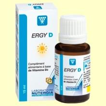 Ergy D - Vitamina D3 natural 200UI - 15 ml - Nutergia