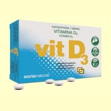 Vitamina D3 - 48 comprimidos - Soria Natural
