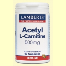 Acetil L-Carnitina 500mg - 60 cápsulas - Lamberts Laboratorios