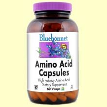 Aminoácidos 750 mg - 60 cápsulas vegetales - Bluebonnet