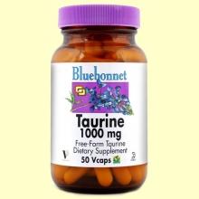 Taurina 1000 mg - 50 cápsulas vegetales - Bluebonnet *
