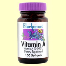 Vitamina A 10.000 UI - 100 cápsulas blandas - Bluebonnet
