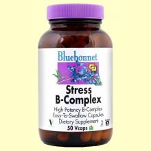 Stress B-Complex - 50 cápsulas vegetales - Bluebonnet