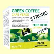 Green Coffee Strong Pack Económico - Café verde - 120 cápsulas - Novity *