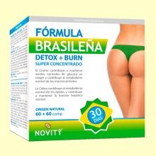 Detox + Burn Fórmula Brasileña - 60 + 60 comprimidos - Novity *