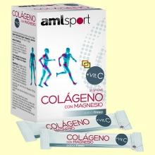 Colágeno con mg + Vit C sticks sabor fresa - 20 sticks - amlsport