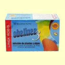Obelinea 3 - Infusión de plantas y algas - Adelgazante - 20 filtros - Robis Laboratorios
