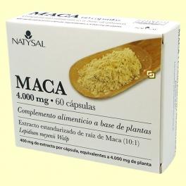 Maca 4.000 mg Extracto - 60 cápsulas - Natysal