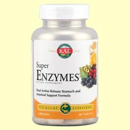 Super Enzymes TM - Apoyo digestivo - 60 comprimidos - Laboratorios Kal