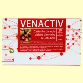 Venactiv - Piernas cansadas - 20 ampollas - Dietmed