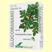 Glucomanano - 60 cápsulas - Soria Natural