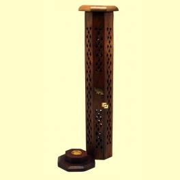 Porta Incienso de madera octogonal - Tierra 3000