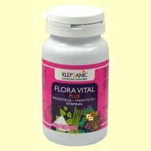 Flora Vital Plus - Probióticos y Prebióticos - 60 cápsulass - Klepsanic