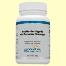 Aceite de Hígado de Bacalao Noruego  - 100 perlas - Laboratorios Douglas