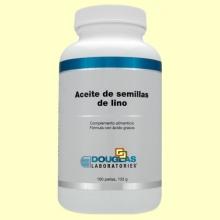 Aceite de semillas de lino 1000 mg - 100 perlas - Laboratorios Douglas