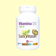 Vitamina D3 1.000 UI - 60 cápsulas - Suravitasan