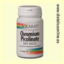 Chromium Picolinate 200 - 50 tabletas de Solaray
