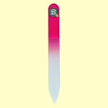 Lima uñas de cristal templado 9 cm color frambuesa - Bohema