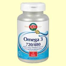 Omega 3 720/480 - 60 perlas - Laboratorios Kal