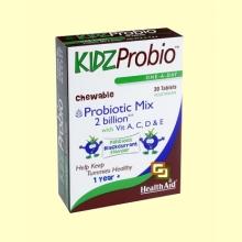 KidzProbio Comprimidos Masticables - 30 comprimidos - Health Aid *