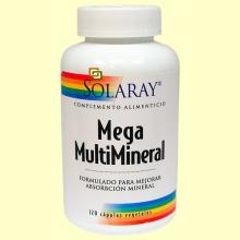 Mega Multi Mineral - 120 cápsulas - Solaray