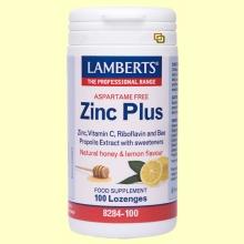 Zinc Plus Pastillas - Minerales - Lamberts - 100 pastillas