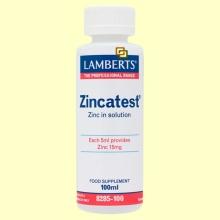 Zincatest - Sulfato de Zinc en Solución - 100 ml -  Lamberts