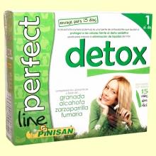Detox Perfect Line - Eliminación de líquidos - 15 viales - Pinisan