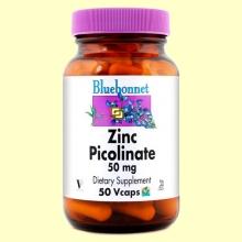 Zinc Picolinato 50 mg - 50 cápsulas vegetales - Bluebonnet
