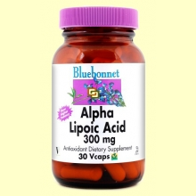 Ácido Alfa Lipoico 300 mg - 30 cápsulas vegetales - Bluebonnet