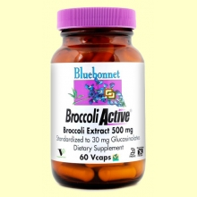 Broccoli Active 500 mg - 60 cápsulas vegetales - Bluebonnet